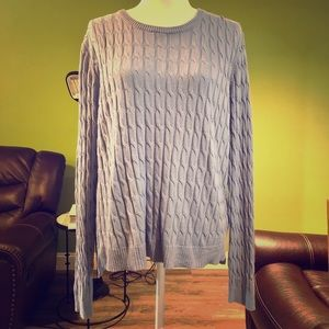 H&M Blue Chunky Knit Sweater